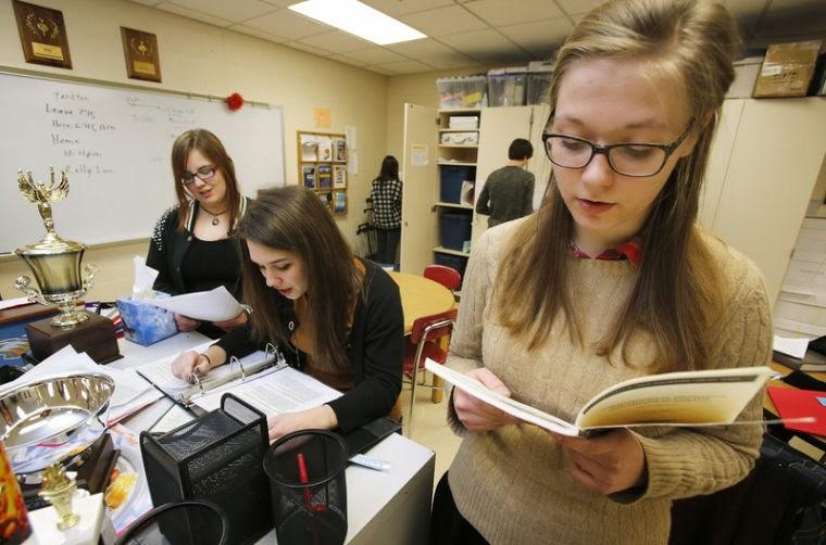 Exchange students sharpen English skills through debate